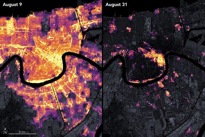 Satellite Observes Power Outages in New Orleans - related image preview