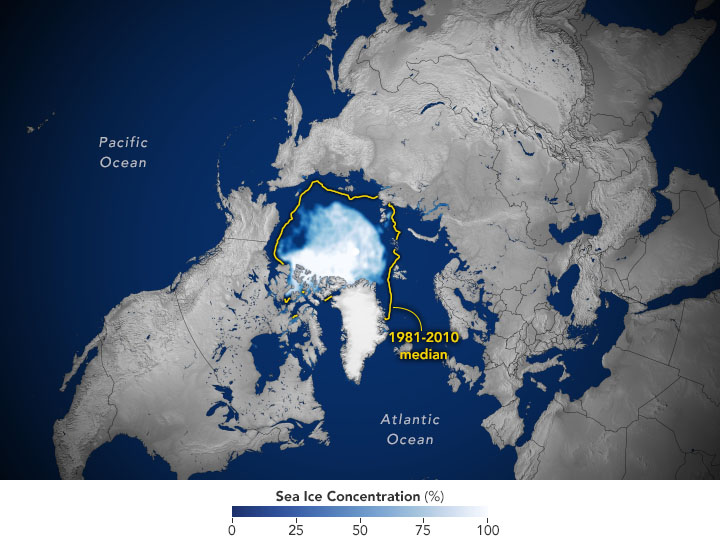 Arctic Sea Ice 12th-Lowest on Record