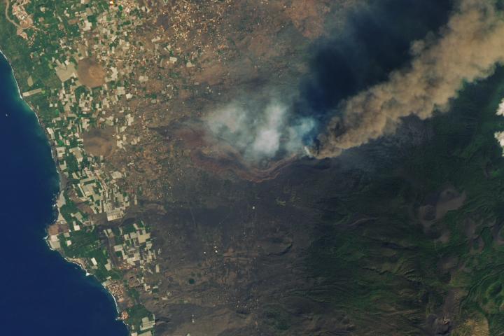 Lava Burns a Path Through La Palma