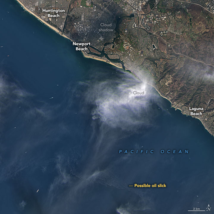 Satellites View California Oil Spill - related image preview