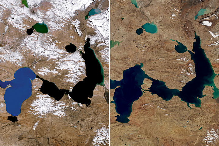 Shrinking Glaciers and Growing Lakes