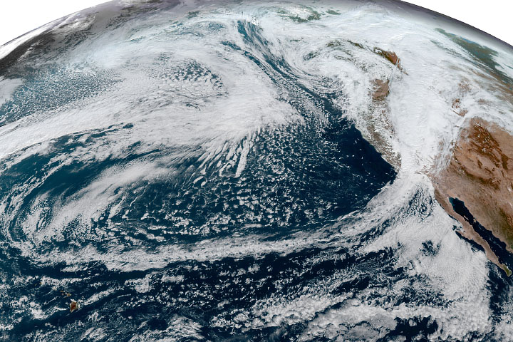 Extratropical Cyclones Drench West Coast