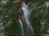 Forest Fires Across Central Siberian Plateau