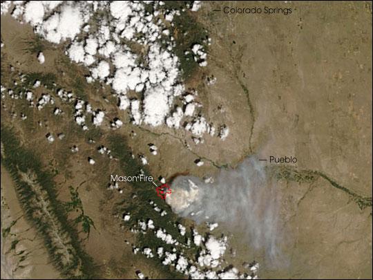 Mason Fire in Southern Colorado