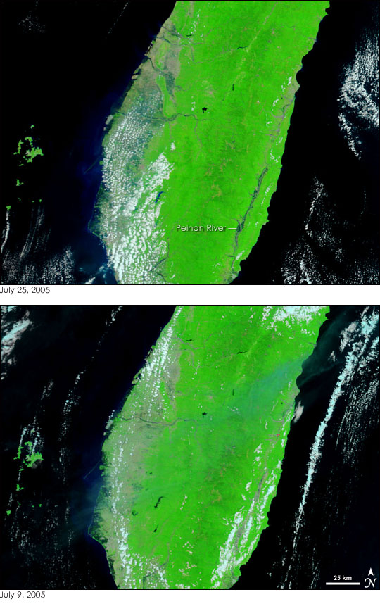 Typhoon Haitang Floods Taiwan