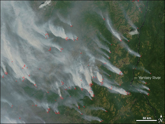 Fires in Central Russia