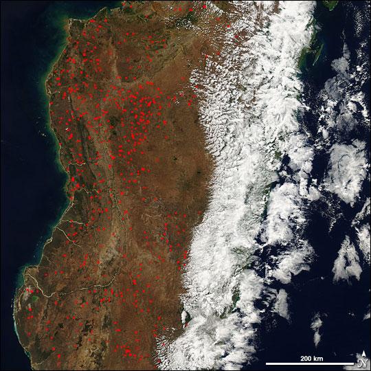 Burning on Madagascar