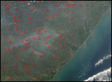 Dry-season Fires in Mozambique