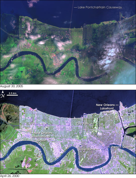 Hurricane Katrina New Orleans Map.Hurricane Katrina Floods The Southeastern United States