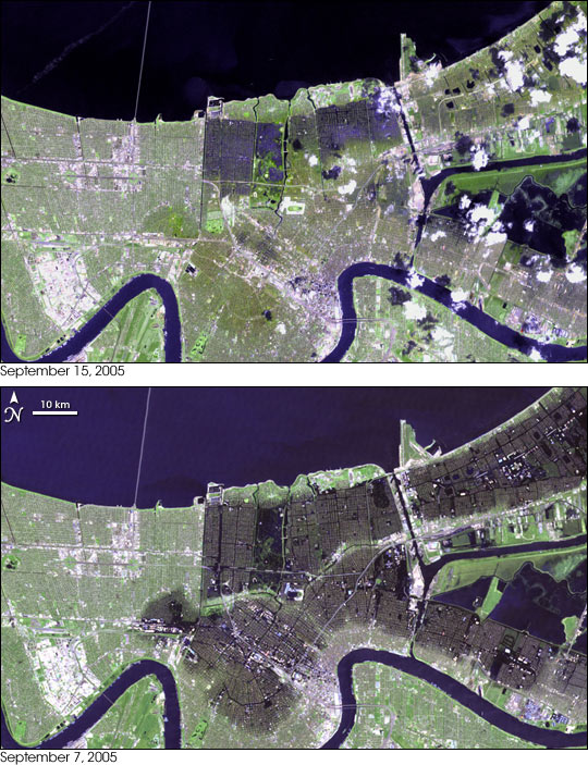 Hurricane Katrina New Orleans Map.Hurricane Katrina Floods New Orleans