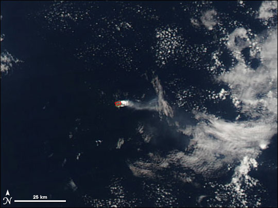 Eruption on Barren Island