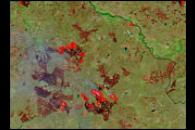 Fires and Burn Scars Around Ural River