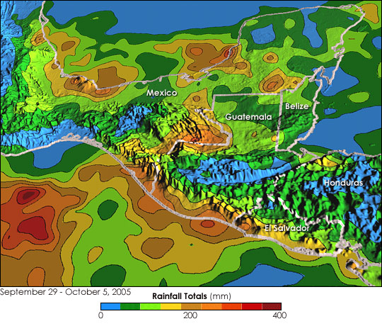 Hurricane Stan Floods Central America