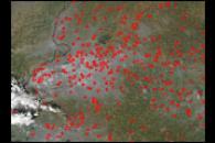 Fires in Northwestern India