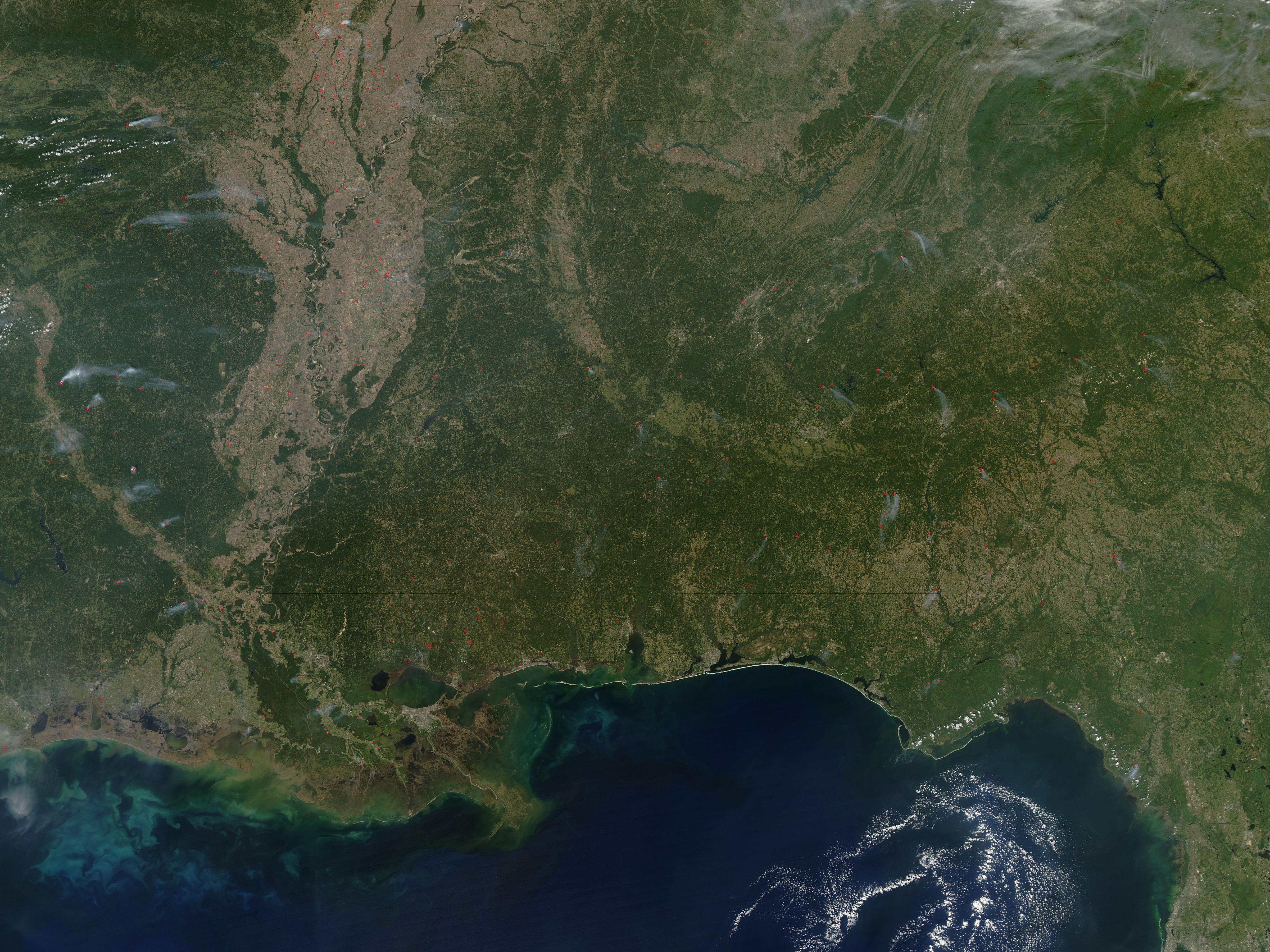 Fires In The Southern United States