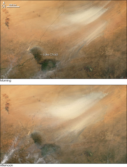 Dust Storm over Chad