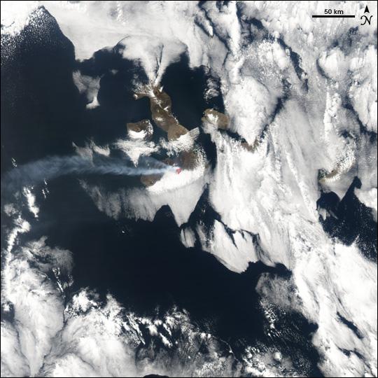 Sierra Negra Erupts