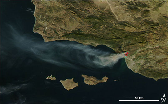 Fire Near Ventura, California