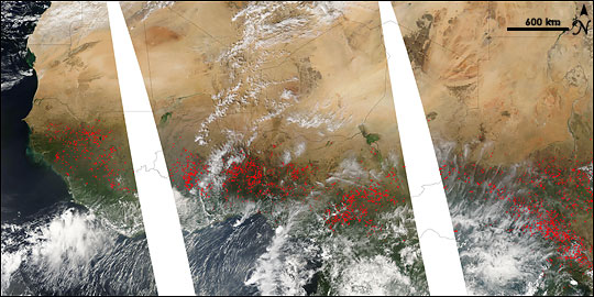 Fire Season in Northern Africa