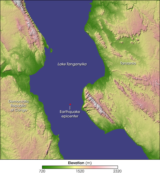 Earthquake in Eastern Africa