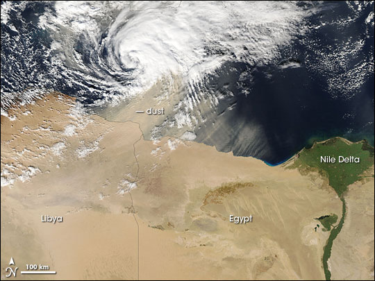 Dust Storm in North Africa