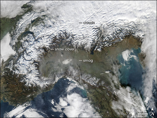 Smog in Northern Italy