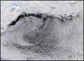 Cloud patterns in the Bering Sea