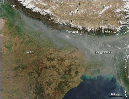 Smog over Northern India