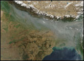 Smog over Northern India