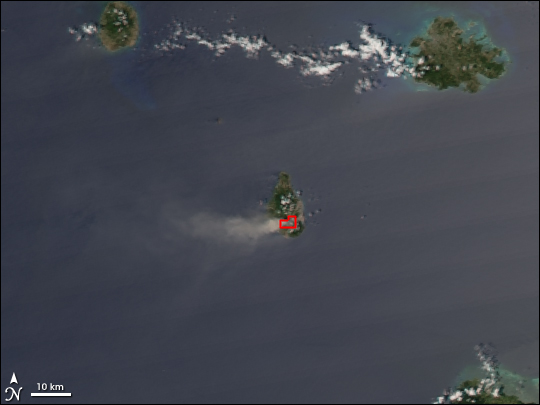 Eruption of Soufriere Hills Volcano