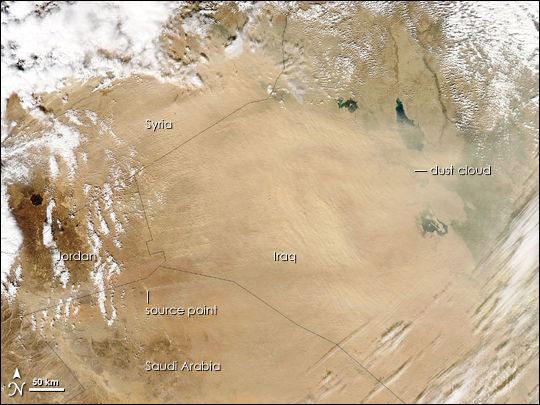Dust Storm over Syria and Iraq