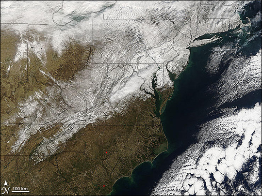 Record Snow on the U.S. East Coast