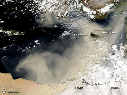 Dust Storm in Northern Africa