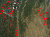 Fires in South Asia