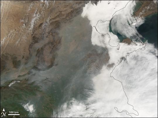 Smog and Sand over Beijing