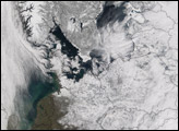 Snowstorm in Northern Europe