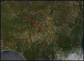 Fires in the Southeastern United States