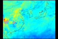 Hazy Skies over Southeast Asia and Southern China