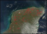 Fires in the Yucatan and Central America