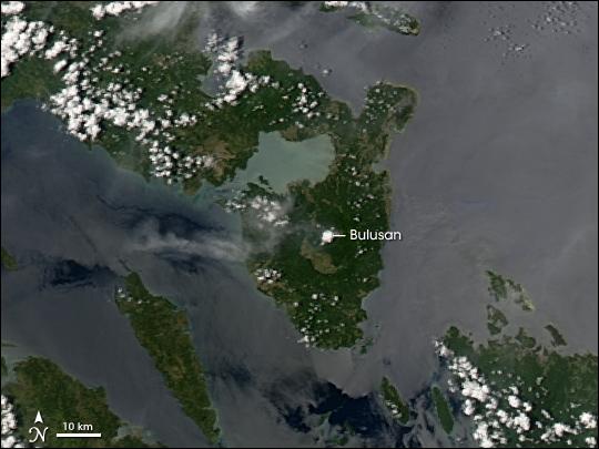 Ash Plume at the Bulusan Volcano
