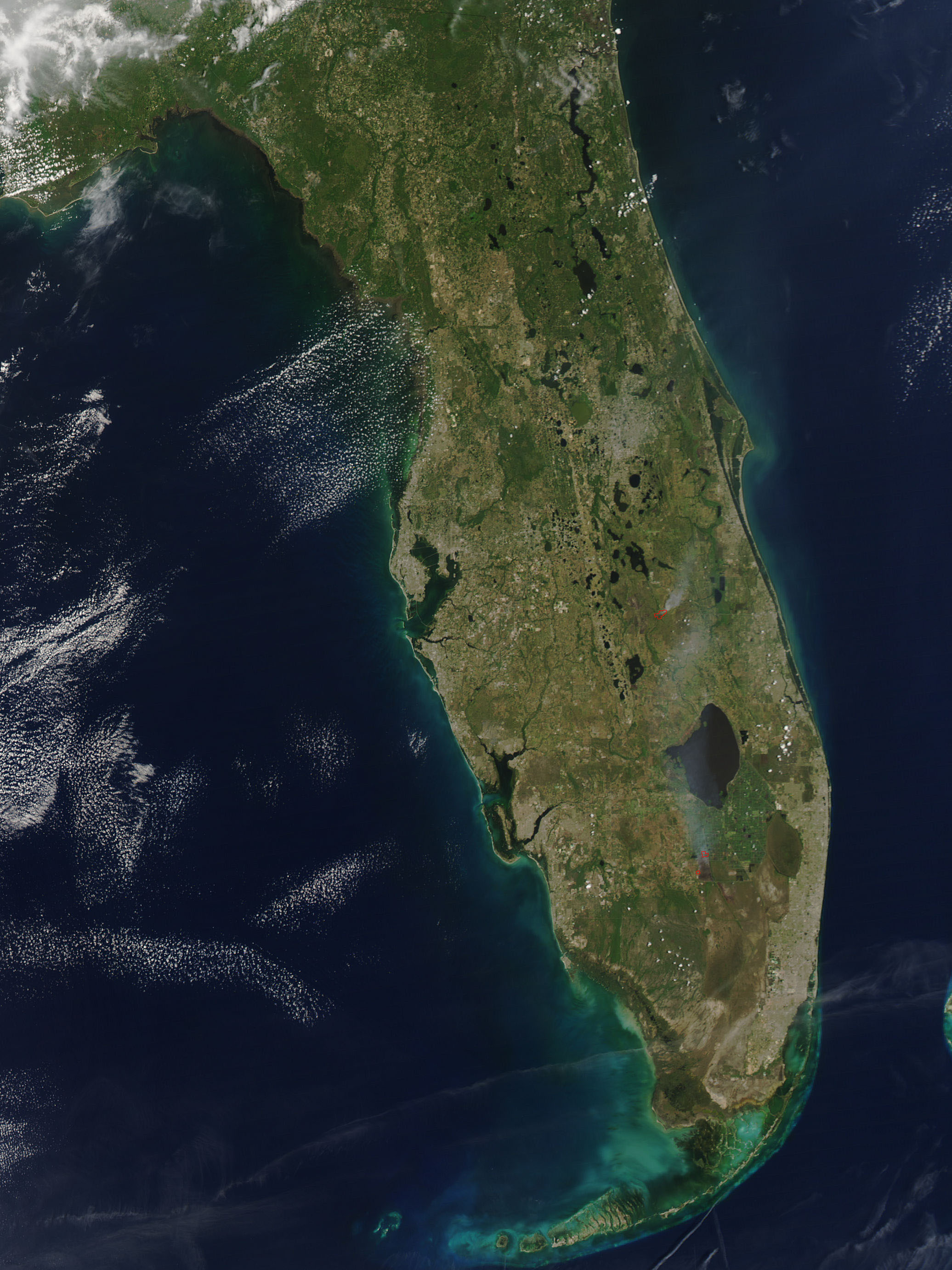 Fires In Florida Natural Hazards - Satellite maps florida
