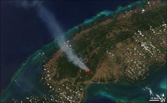Fires in Cuba