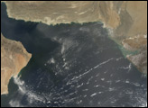 Dust Blowing off the Coast of Pakistan