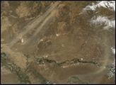 Dust Plumes in Kazakstan
