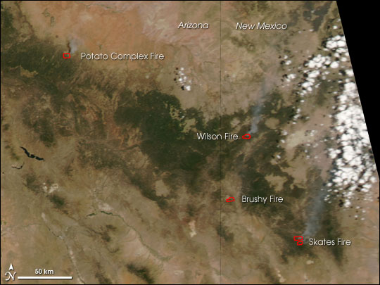 Fires in the U.S. Southwest