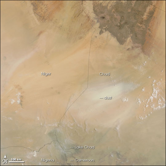 Dust Storm in Chad