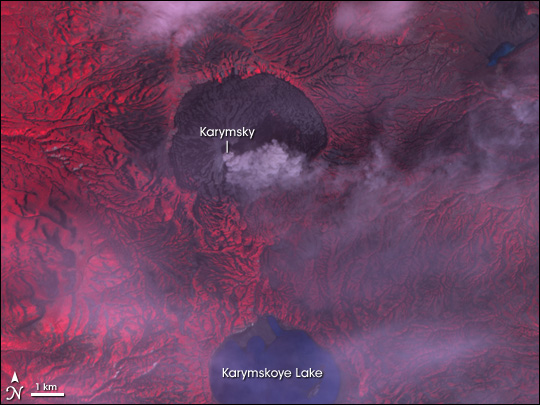 Ash Plume from Karymsky