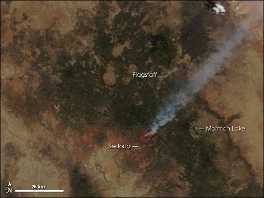 Brins Fire Near Sedona, AZ