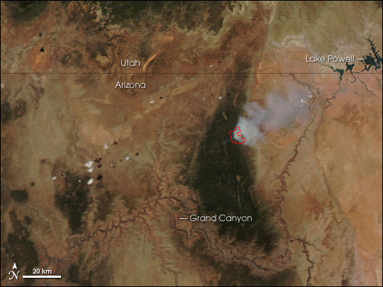 Warm Fire in Northern Arizona
