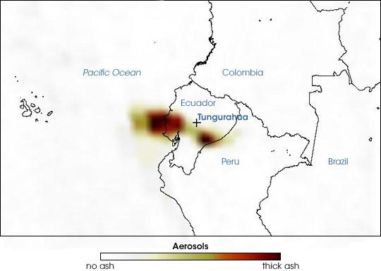 Tungurahua Volcano In Ecuador Natural Hazards - Where is ecuador located